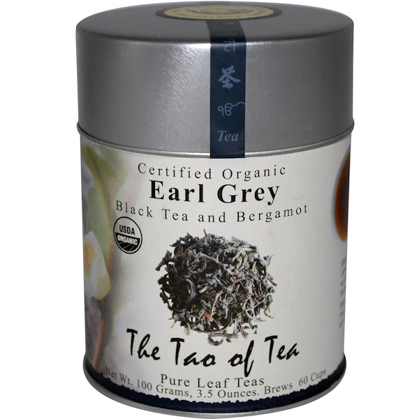 The Tao of Tea, Certified Organic Black Tea and Bergamot, Earl Grey, 3.5 oz (100 g)