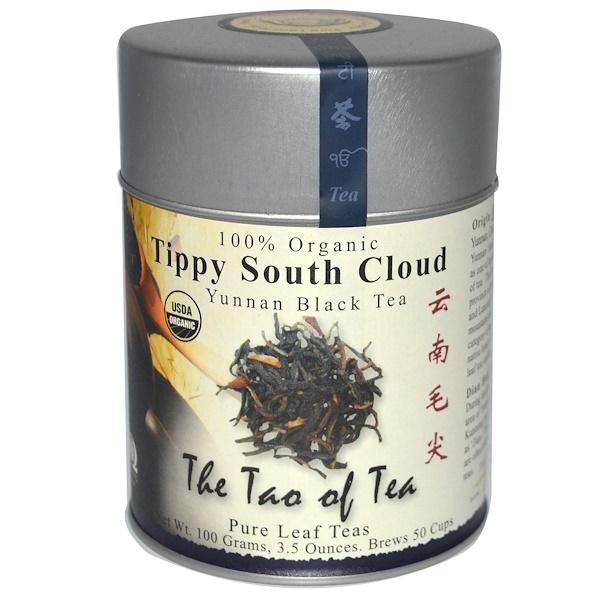 The Tao of Tea, 100% Organic Tippy South Cloud, Yunnan Black Tea, 3.5 oz (100 g)