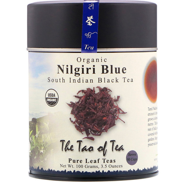 The Tao of Tea, Orgânico, Chá Preto do Sul Indiano, Nilgiri Azul, 3,5 oz (100 g)