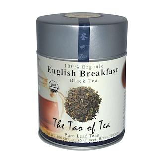 The Tao of Tea, 100% Organic English Breakfast Black Tea, 3.5 oz (100 g)