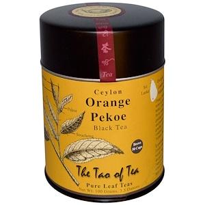The Tao of Tea, Цейлонский черный чай, высший сорт цейлонского чая — апельсин, 100 г (3,5 унции)