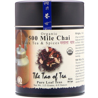 The Tao of Tea, Organic Black Tea & Spices, 500 Mile Chai, 4.0 oz (115 g)