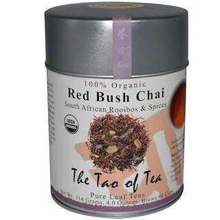 The Tao of Tea, 100% Organic South African Rooibos & Spices, Red Bush Chai, Caffeine Free, 4 oz (114 g)