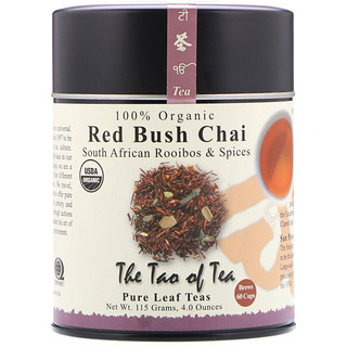 The Tao of Tea, 100% Organic South African Rooibos & Spices, Red Bush Chai, 4 oz (115 g)