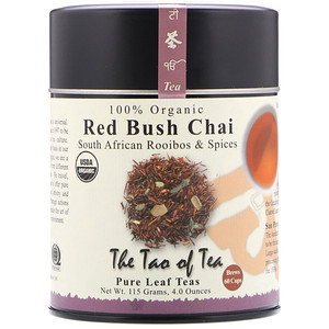 Зе Тао оф Ти, 100% Organic South African Rooibos & Spices, Red Bush Chai, 4 oz (115 g) отзывы покупателей