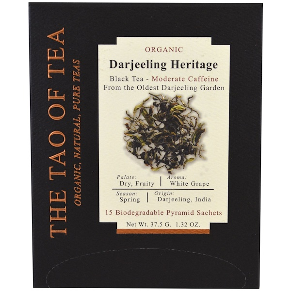 The Tao of Tea, Органический Darjeeling Heritage, 15 пирамидок, 1,85 унц. (52,5 г) (Discontinued Item)
