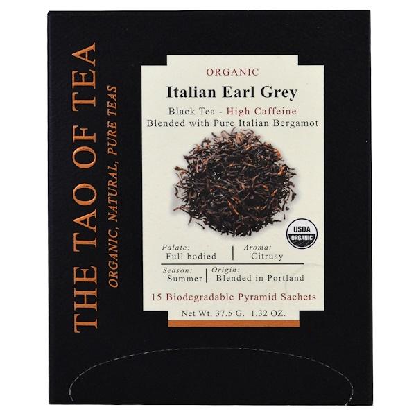The Tao of Tea, 有機意大利伯爵茶,15 袋,1、32 盎司(37、5 克)