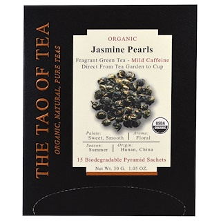 The Tao of Tea, Organic Jasmine Pearls, 15 Pyramid Sachets, 1.05 oz (30 g)