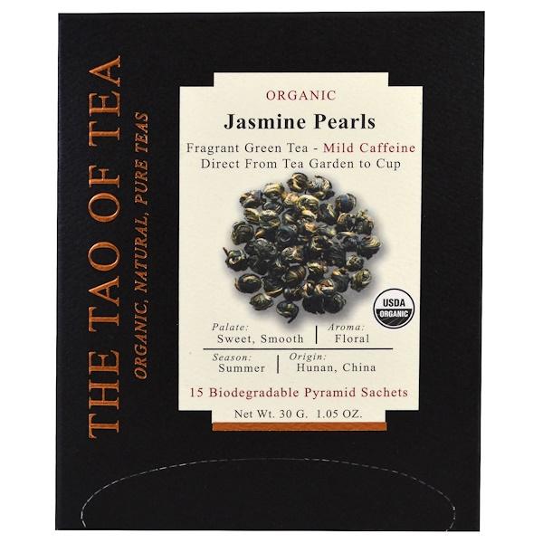 The Tao of Tea, 有機茉莉珍珠茶,15袋錐形茶包,1、05盎司(30克)