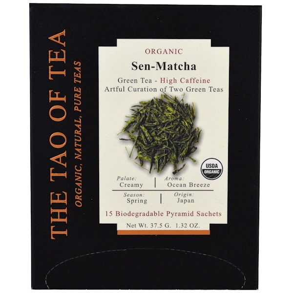 The Tao of Tea, Органический чай Sen Matcha, 15 пирамидок, 1,32 унц. (37,5 г) (Discontinued Item)