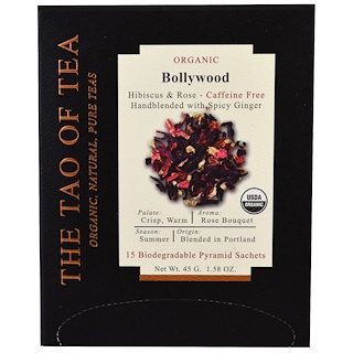 The Tao of Tea, Organic Bollywood, 15 Pyramid Sachets, 1.58 oz (45 g)