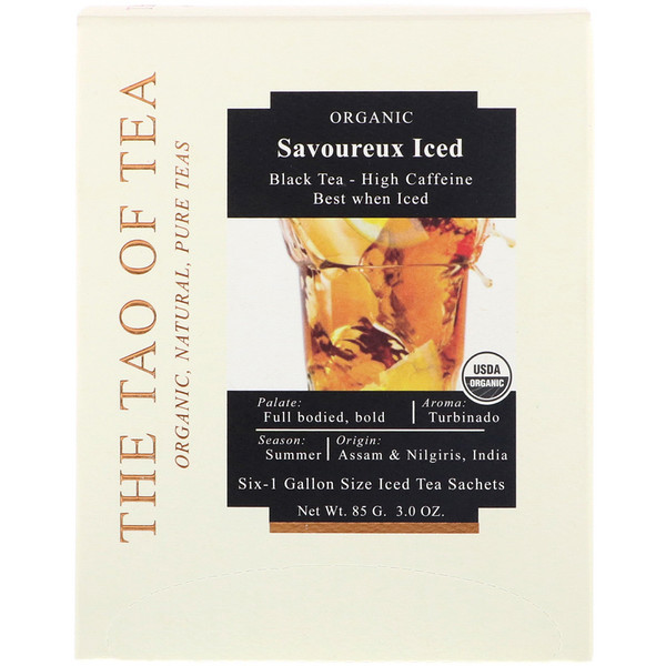 The Tao of Tea, Savoureux Iced Tea, Black Tea, 6 - 1 Gallon Sized Sachets, 3.0 oz (85 g) (Discontinued Item)