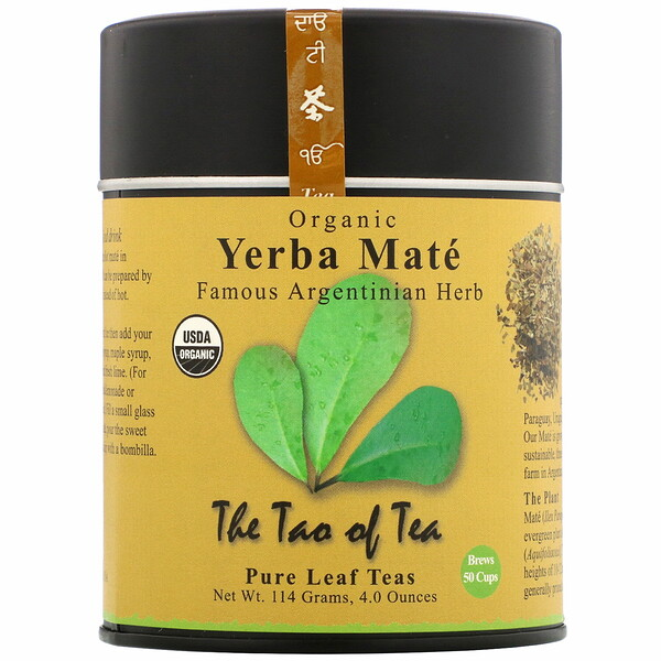 The Tao of Tea, Té de yerba mate orgánica, 114 g (4,0 oz)