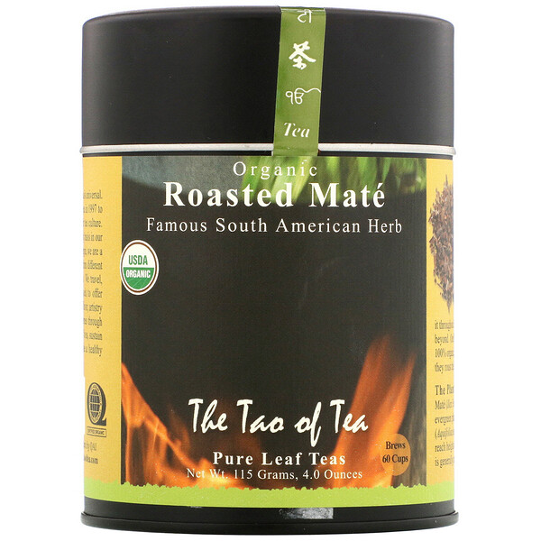 The Tao of Tea, Mate tostado orgánico, 115 g (4,0 oz)