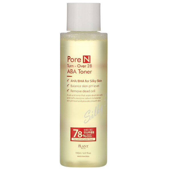 The Plant Base, Pore N, Turn-Over 28 ABA Toner, 5.07 fl oz (150 ml)