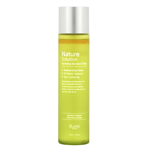 Nature Solution, Eau de bambou hydratante, 150 ml