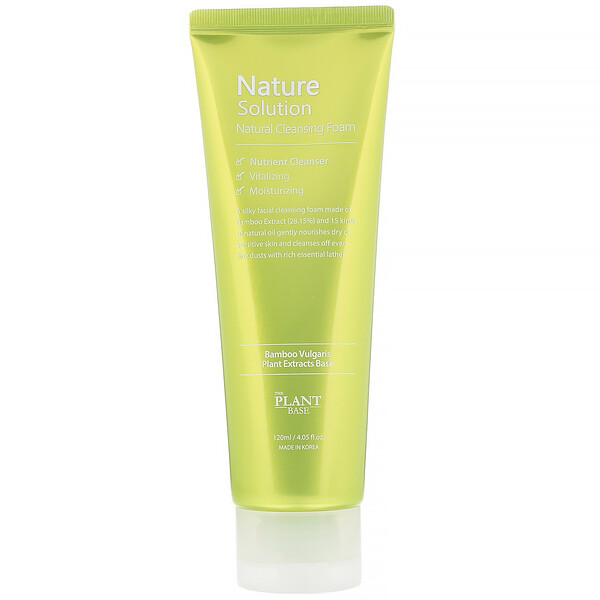 The Plant Base, Nature Solution, Natural Cleansing Foam, 4.05 fl oz (120 ml)