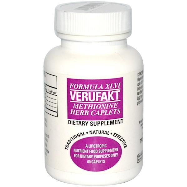 TPCS, Verufakt, Formula XLVI, Methionine Herb Caplets, 60 Caplets (Discontinued Item)