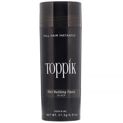 Купить Toppik Hair Building Fibers, загуститель для волос, оттенок черный, 27, 5г (0, 97 унции)