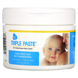 Triple Paste, Zinc Oxide Diaper Rash Cream, Fragrance-Free, 8 oz (227 g)