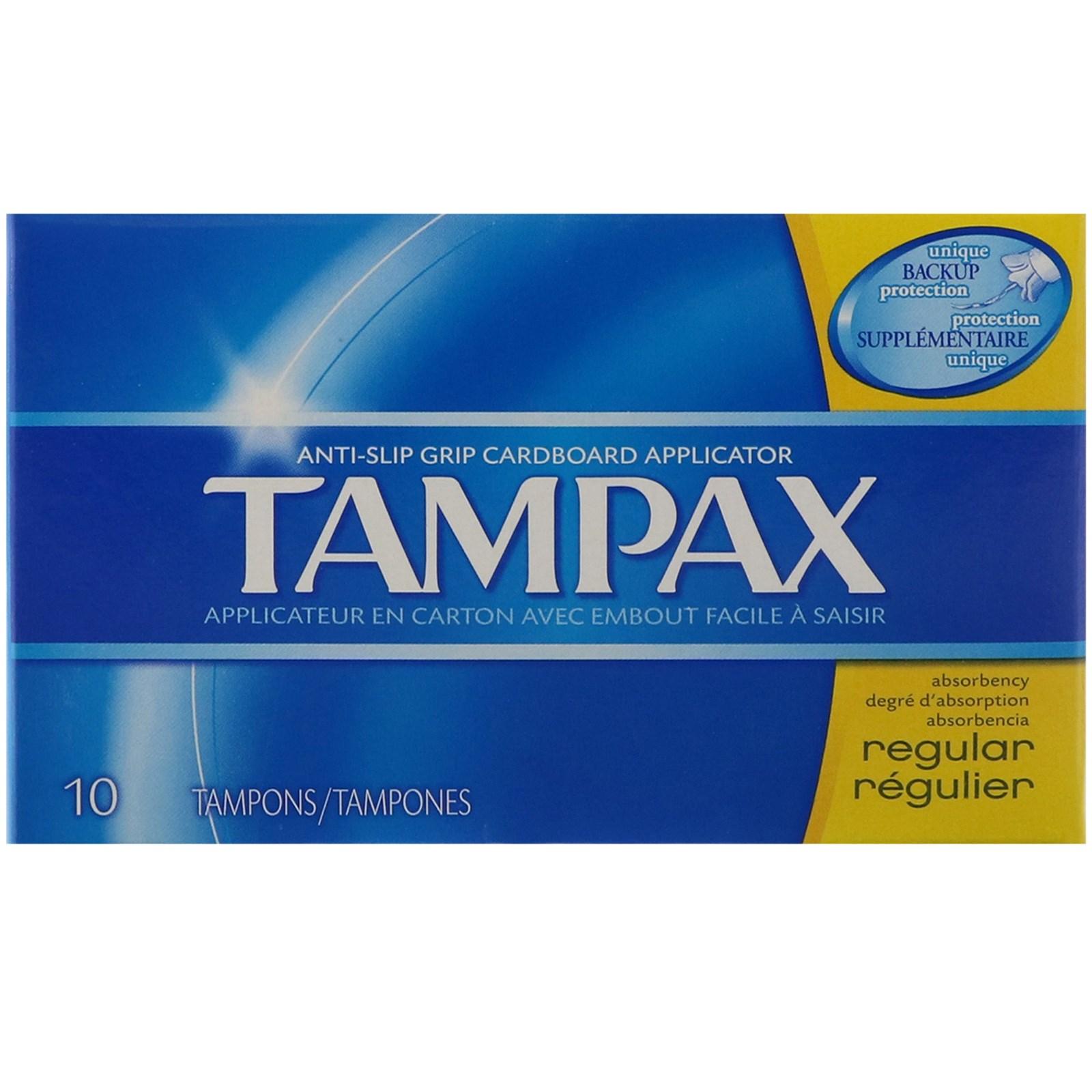Tampax, Тампоны, для нормальных выделений, 10 тампонов