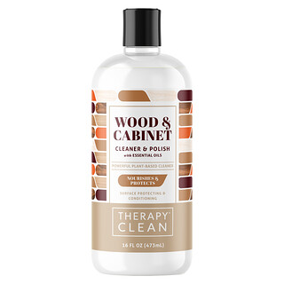 Therapy Clean, Wood & Cabinet, Cleaner & Polish with Essential Oils, 16 fl oz (473 ml)
