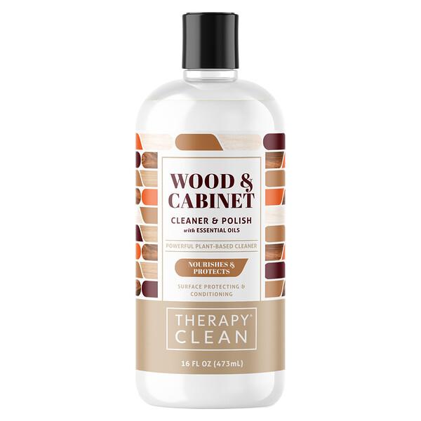 Wood & Cabinet, Cleaner & Polish with Essential Oils, 16 fl oz (473 ml)
