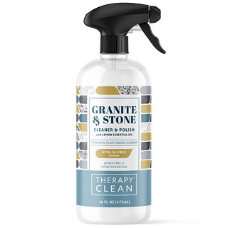 Therapy Clean, Granite & Stone, Cleaner & Polish with Lemon Essential Oil, 16 fl oz (473 ml)