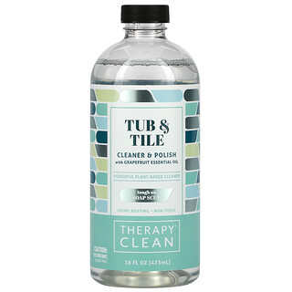 Therapy Clean, Tub & Tile, Cleaner & Polish with Grapefruit Essential Oil, 16 fl oz (473 ml)
