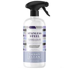 Therapy Clean, Stainless Steel,清潔和拋光劑,含薰衣花草精油,16 液量盎司(473 毫升):