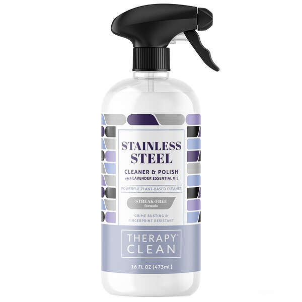 Therapy Clean, Stainless Steel, Cleaner & Polish with Lavender Essential Oil, 16 fl oz (473 ml)