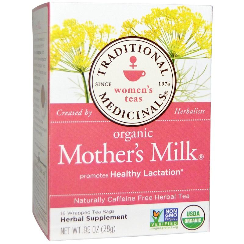 Women's Teas, Organic Mother's Milk, Naturally Caffeine Free, 16 Wrapped Tea Bags, .99 oz (28 g)