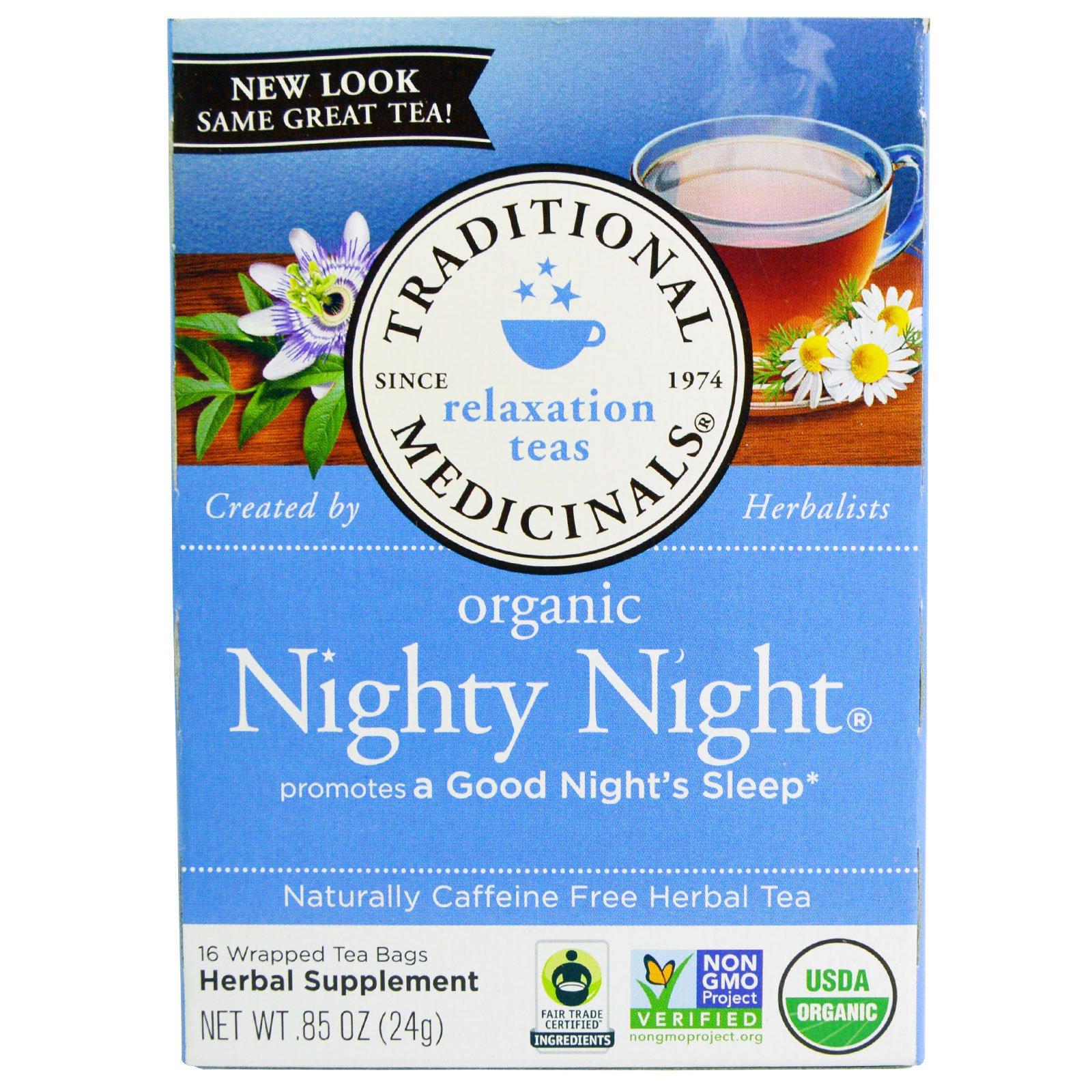 Traditional Medicinals, Relaxation Teas, Organic Nighty Night ...