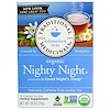 Traditional Medicinals, Relaxation Teas, Organic Nighty Night, Naturally Caffeine Free Herbal Tea, 16 Wrapped Tea Bags, .85 oz (24 g)