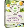 Traditional Medicinals, Herbal Teas, Organic Chamomile with Lavender, Naturally Caffeine Free, 16 Wrapped Tea Bags, .85 oz (24 g)