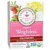 Traditional Medicinals, Women's Teas, Organic Weightless, Naturally Caffeine Free Herbal Tea, Cranberry, 16 Wrapped Tea Bags, .85 oz (24 g)