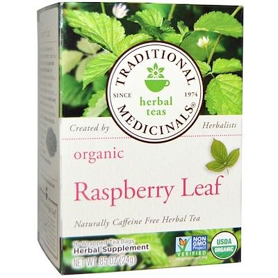 Купить Расслабляющий чай, лист органической малины, без кофеина, 16чайных пакетиков, 24г