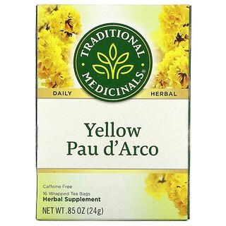 Traditional Medicinals, Yellow Pau d' Arco, Caffeine Free, 16 Wrapped Tea Bags, .85 oz (24 g)