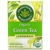 Traditional Medicinals, Organic Green Tea, Lemongrass, 16 Wrapped Tea Bags, .85 oz (24 g)