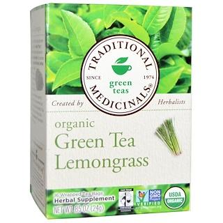 Traditional Medicinals, Green Teas, Organic Green Tea Lemongrass, 16 Wrapped Tea Bags, .85 oz (24 g)