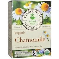 Травяной чай, органическая ромашка, без кофеина, 16 чайных пакетиков, 0,74 унции (20,8 г) - фото