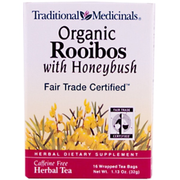 Traditional Medicinals, Organic Rooibos with Honeybush, Caffeine Free, 16 Tea Bags (Discontinued Item)