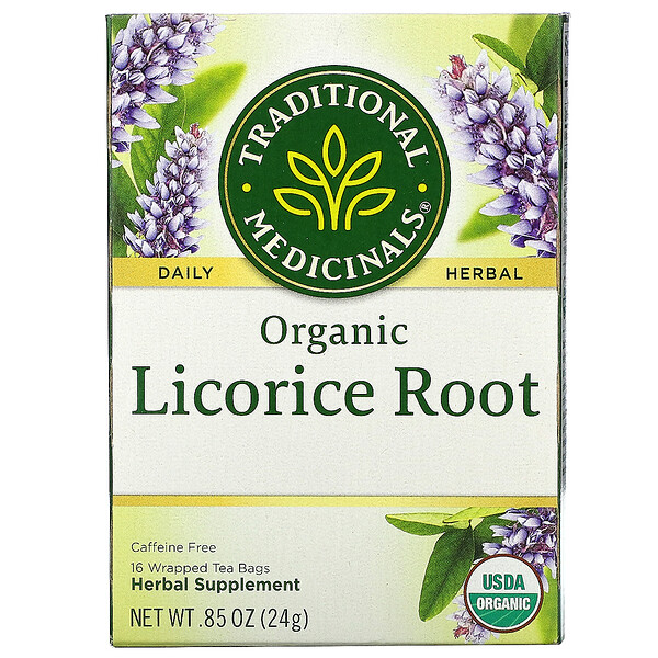 Organic Licorice Root, Caffeine Free, 16 Wrapped Tea Bags, .85 oz (24 g)