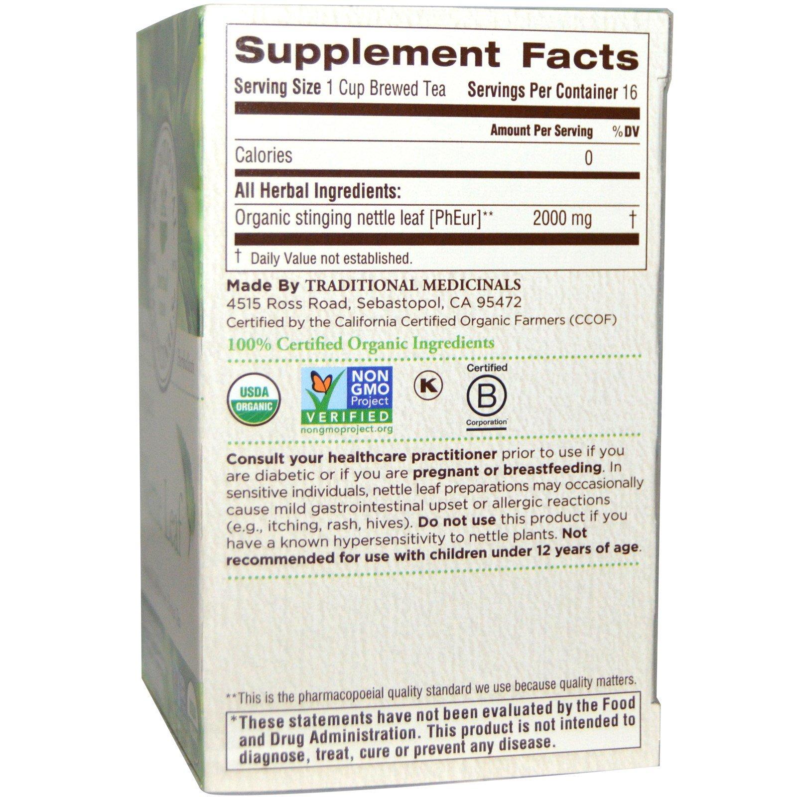 Herbal Teas, Organic Nettle Leaf