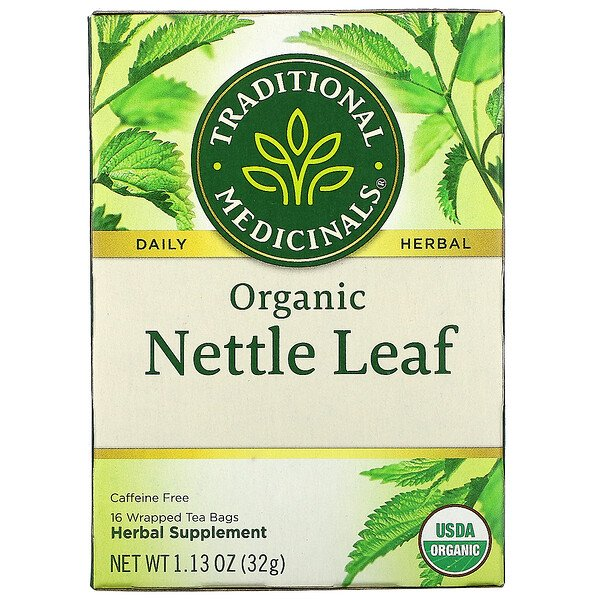 Traditional Medicinals, Organic Nettle Leaf, Caffeine Free, 16 Wrapped Tea Bags, 1.13 oz (32 g)