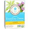 Traditional Medicinals, Detox Teas, Organic EveryDay, Lemon, Naturally Caffeine Free, 16 Wrapped Tea Bags, .85 oz (24 g)