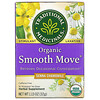 Traditional Medicinals, Organic Smooth Move, Senna Chamomile, Caffeine Free, 16 Wrapped Tea Bags, 1.13 oz (32 g)