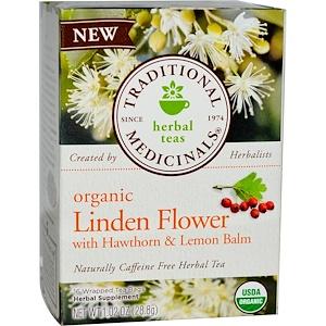 Традитионал Медисиналс, Herbal Teas, Organic Linden Flower, Naturally Caffeine Free, 16 Tea Bags, 1.02 oz (28.8 g) отзывы покупателей