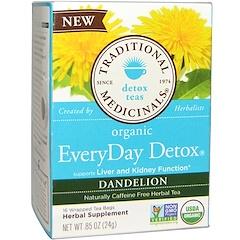 Traditional Medicinals, شاي الهندباء العضوي لكل يوم، خال من الكافيين، 16 أكياس الشاي، 0.85 (24 غرام)