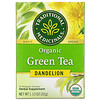 Traditional Medicinals, Organic Green Tea, Dandelion, 16 Wrapped Tea Bags, 1.13 oz (32 g)